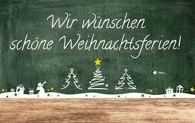 Weihnachtsferien (bis 31.12.2021)